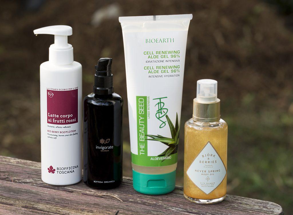 prodotti bio preferit dell'estatei corpo